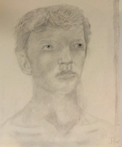 The finished product of Philip's self-portrait