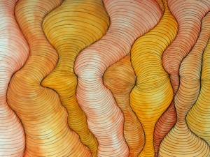 Curved line painting, Sarah Winston Folk