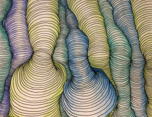 Curved line painting, Will Fisher