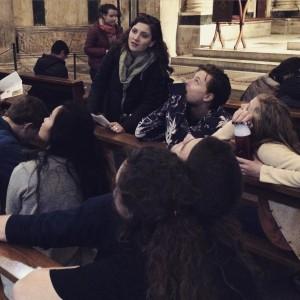 Day 2:  Reading the mosaic ceiling in the Battistero di  San Giovanni