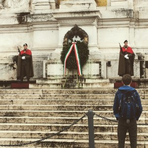 Day 7:  The Tomb Of the Unknown Soldier at Monumento Nazionale a Vittorio Emanuele II