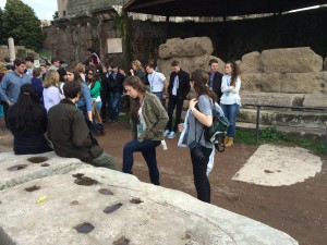Day 7:  Exploring the temple and funeral pyre of Julius Caesar in the Roman Forum