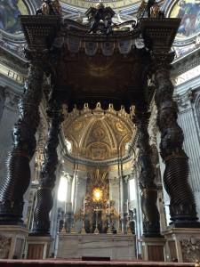 Day 9:  Bernini's Baldacchino di San Pietro