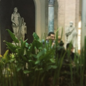 Day 9:  The courtyard at the Museo del Vatticani