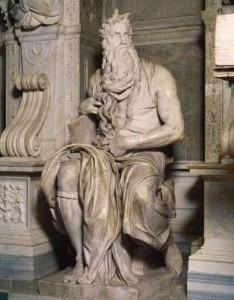 'Moses', by Michelangelo Buonarroti, c. 1515 San Pietro in Vincoli, Rome,Italy